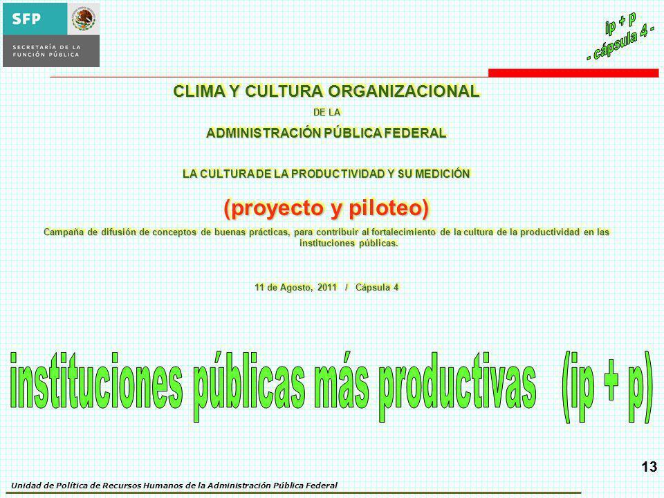instituciones públicas más productivas (ip + p)