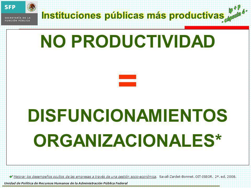 Instituciones públicas más productivas