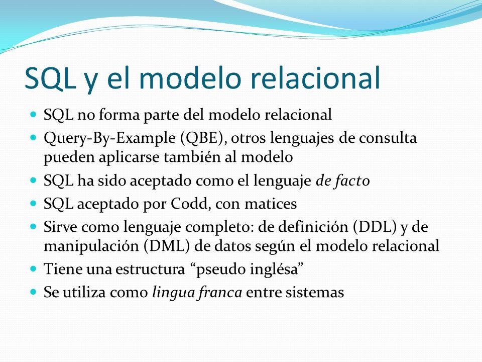 SQL y el modelo relacional