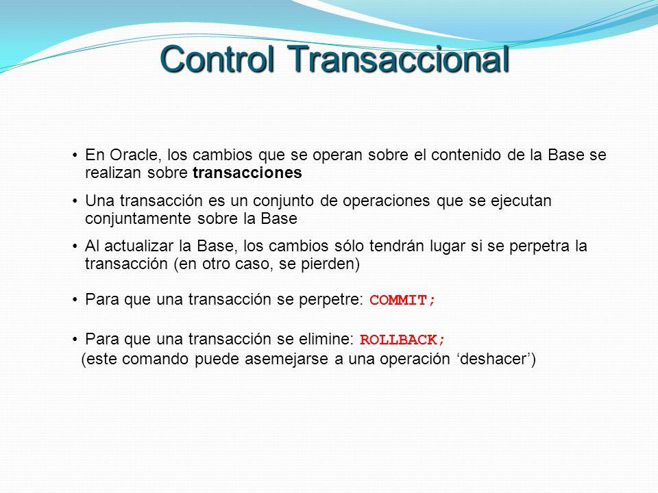 Control Transaccional
