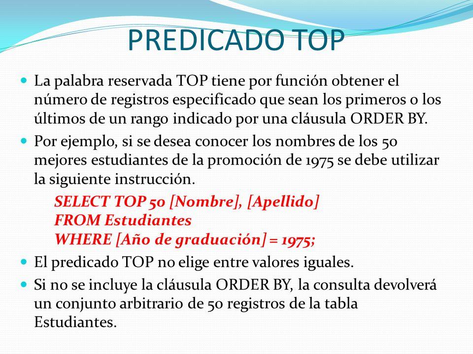 PREDICADO TOP