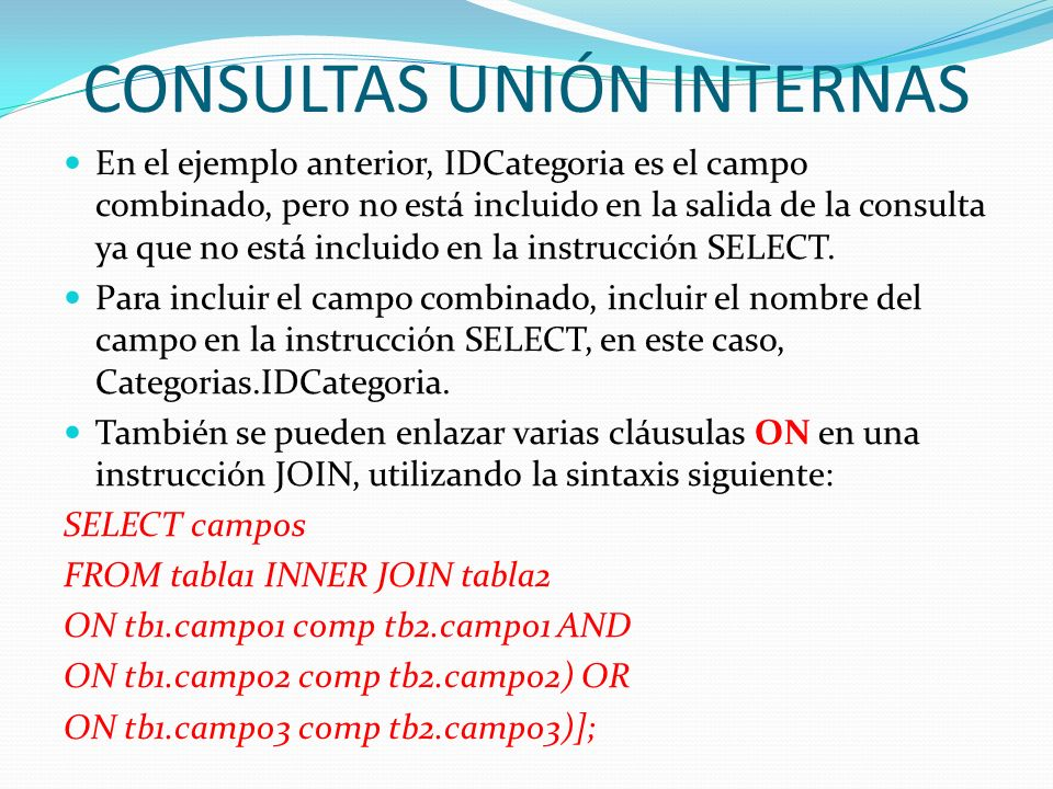 CONSULTAS UNIÓN INTERNAS