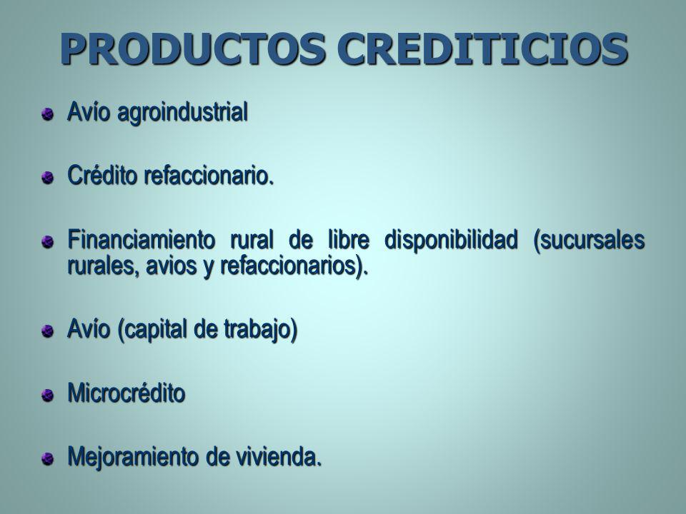 PRODUCTOS CREDITICIOS