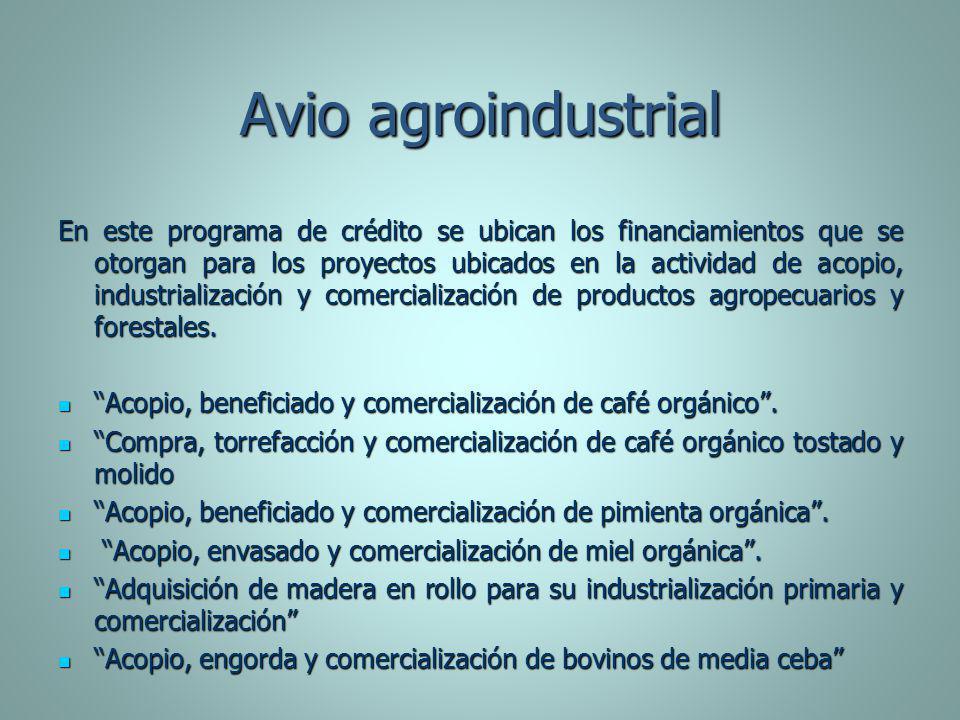 Avio agroindustrial