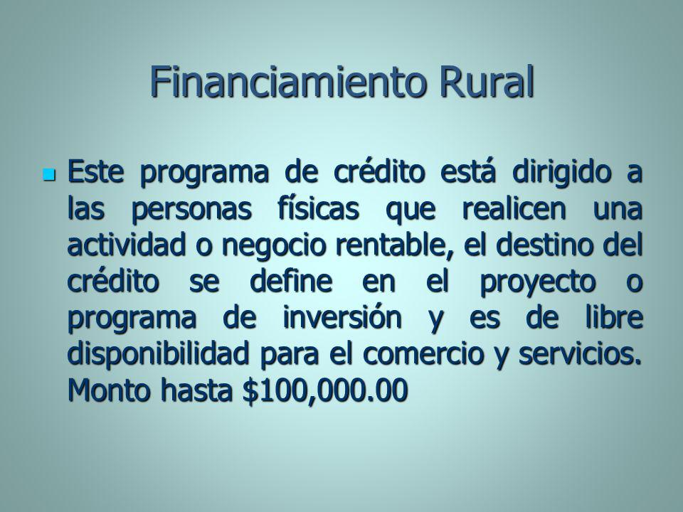 Financiamiento Rural