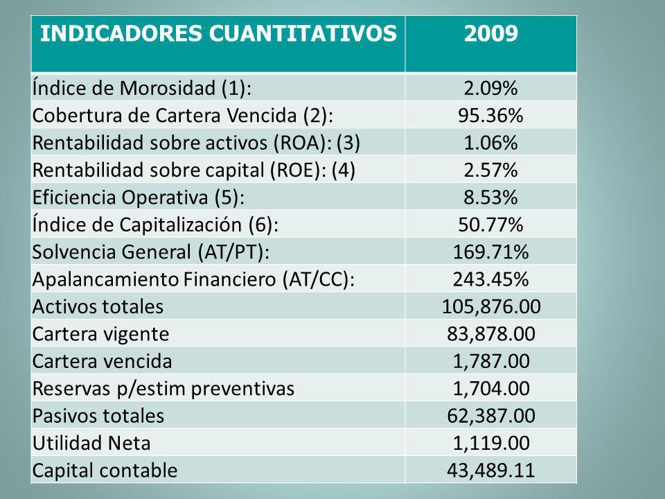 INDICADORES CUANTITATIVOS