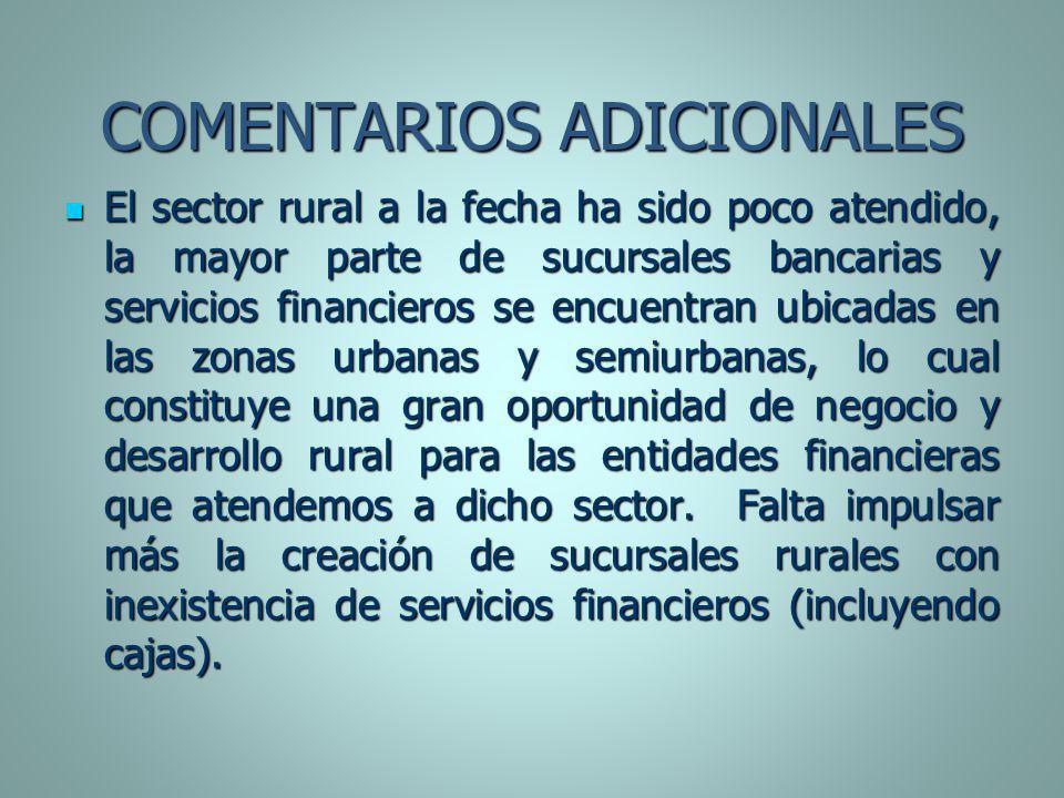 COMENTARIOS ADICIONALES