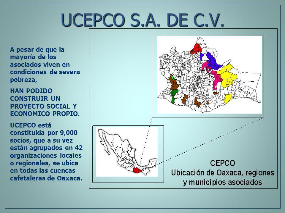 UCEPCO S.A. DE C.V. A pesar de que la mayoría de los asociados viven en condiciones de severa pobreza,