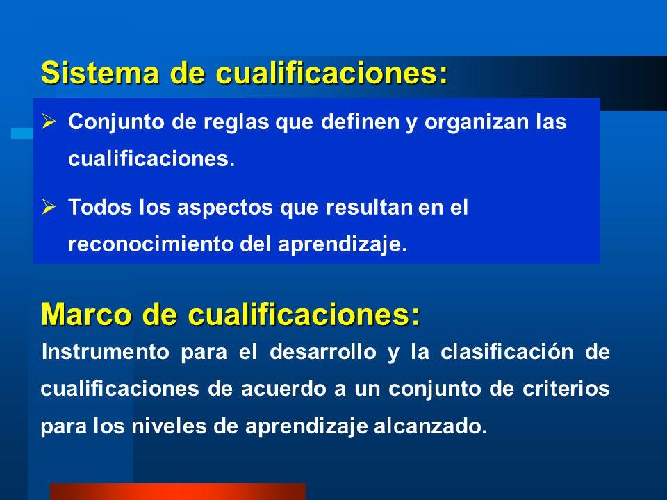 Sistema de cualificaciones: