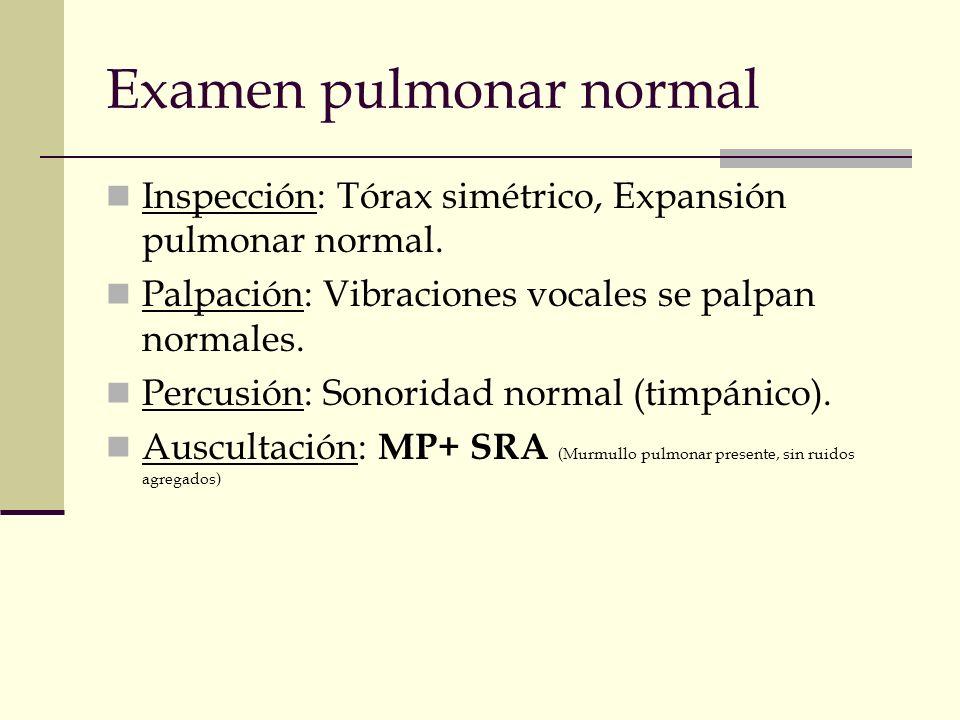 Examen pulmonar normal