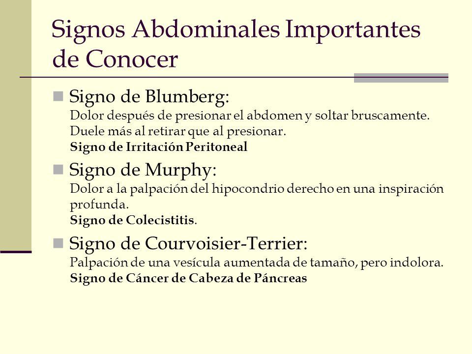 Signos Abdominales Importantes de Conocer