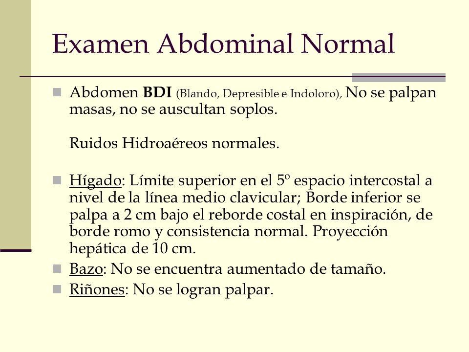 Examen Abdominal Normal