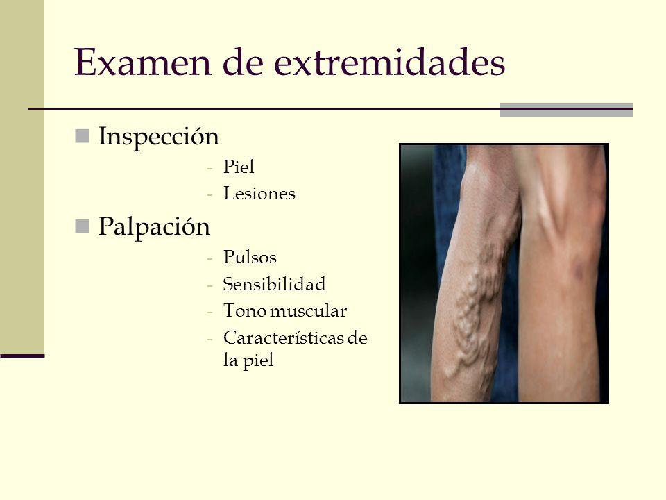 Examen de extremidades