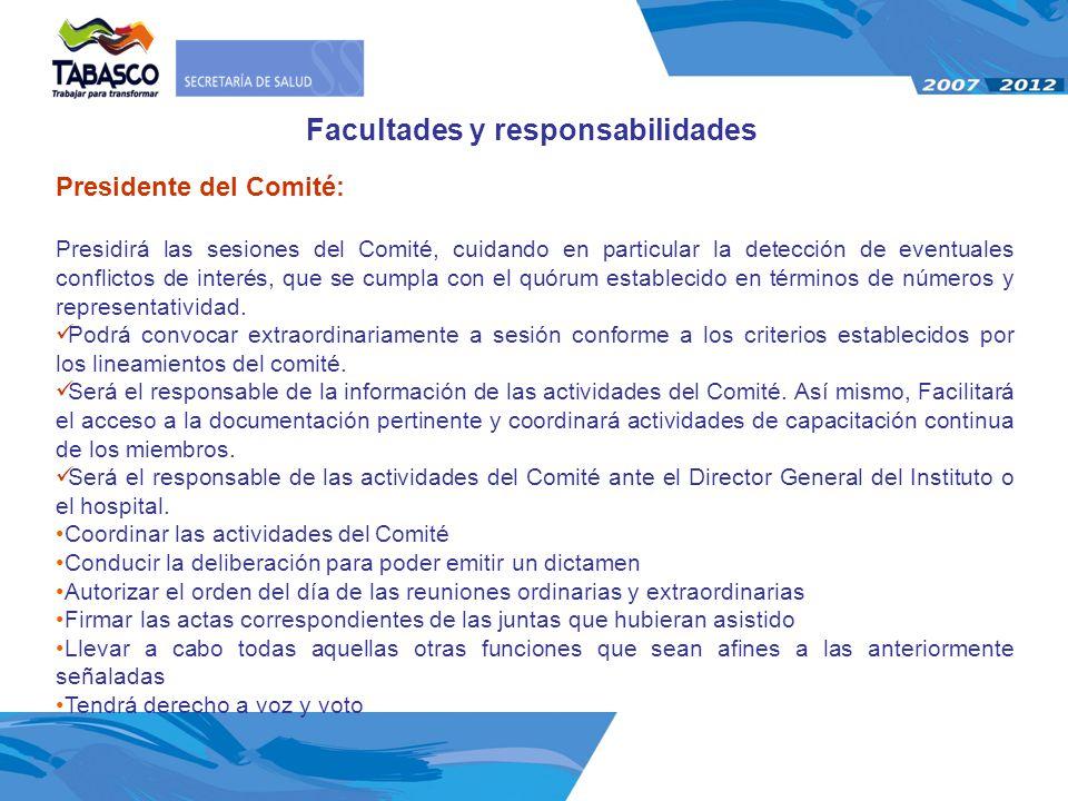 Facultades y responsabilidades
