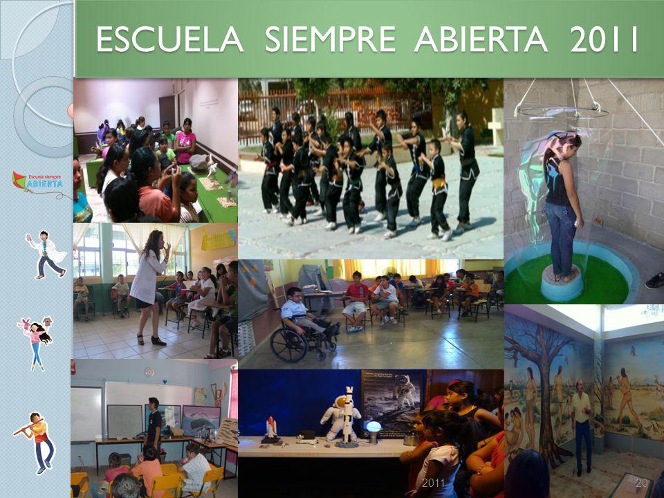 ESCUELA SIEMPRE ABIERTA 2011