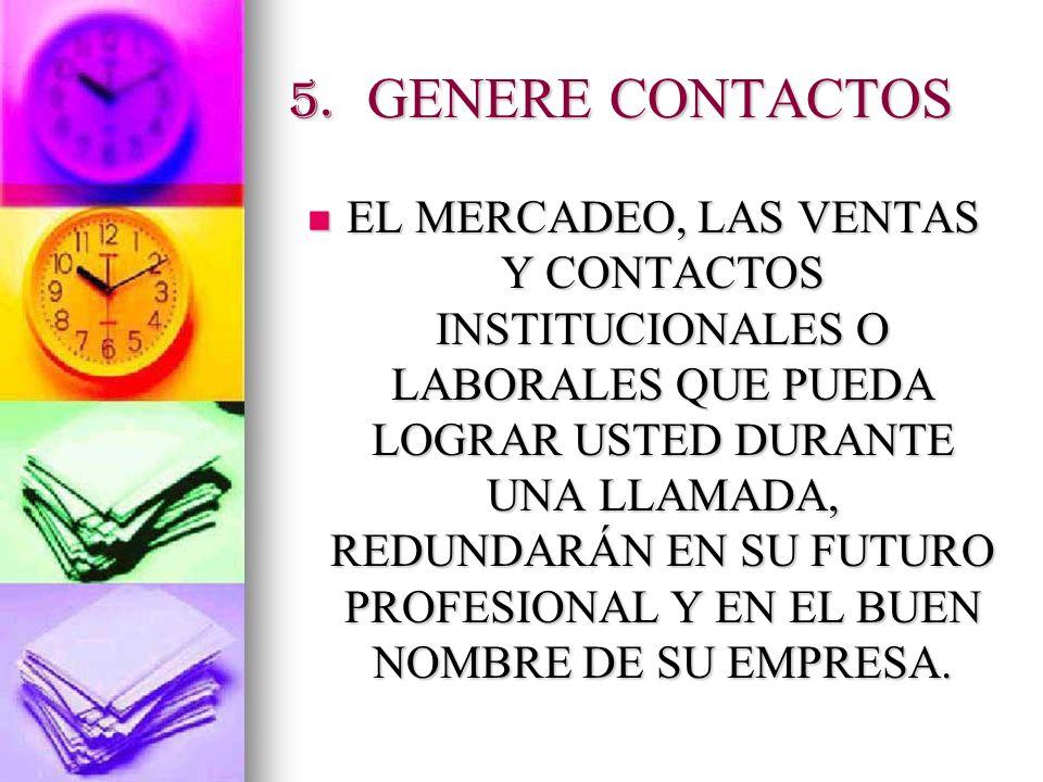 5. GENERE CONTACTOS