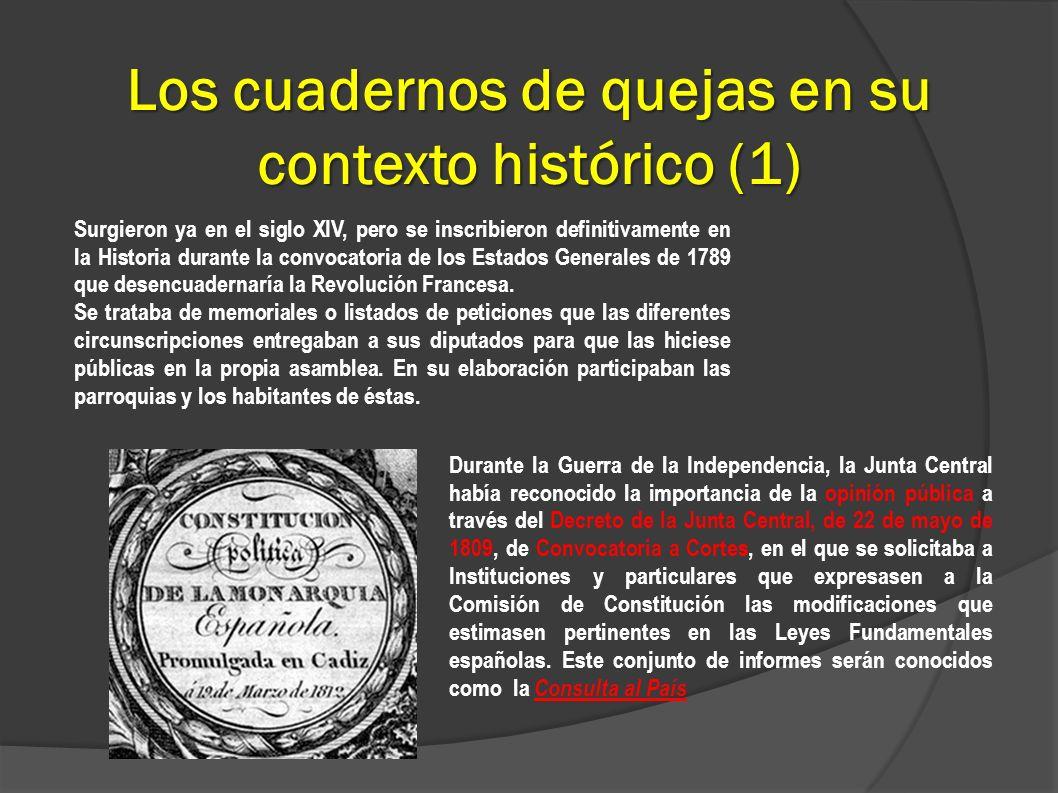 Los cuadernos de quejas en su contexto histórico (1)