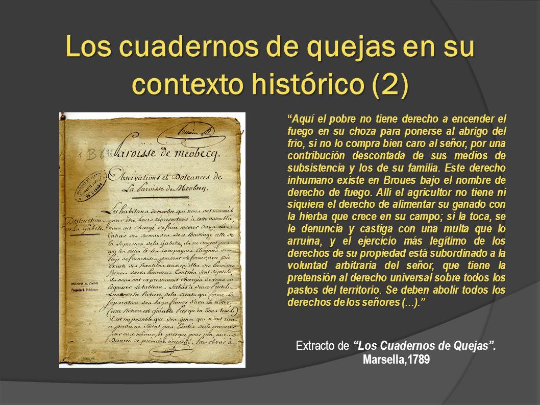 Los cuadernos de quejas en su contexto histórico (2)