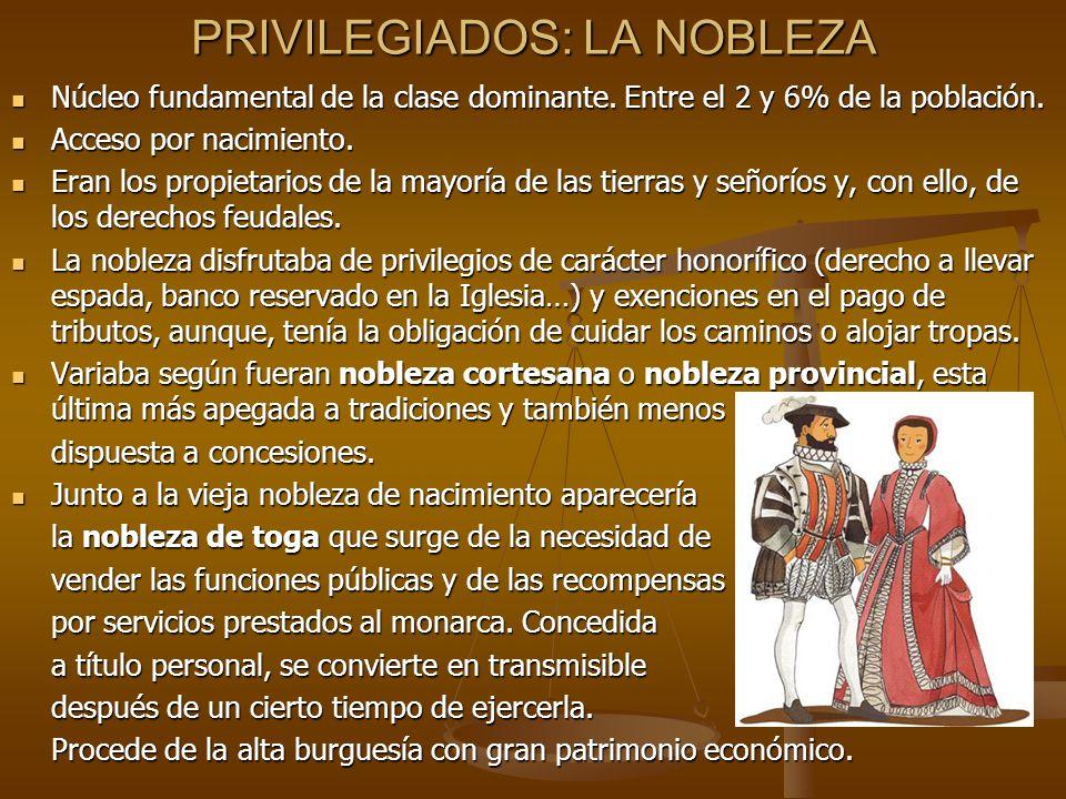 PRIVILEGIADOS: LA NOBLEZA