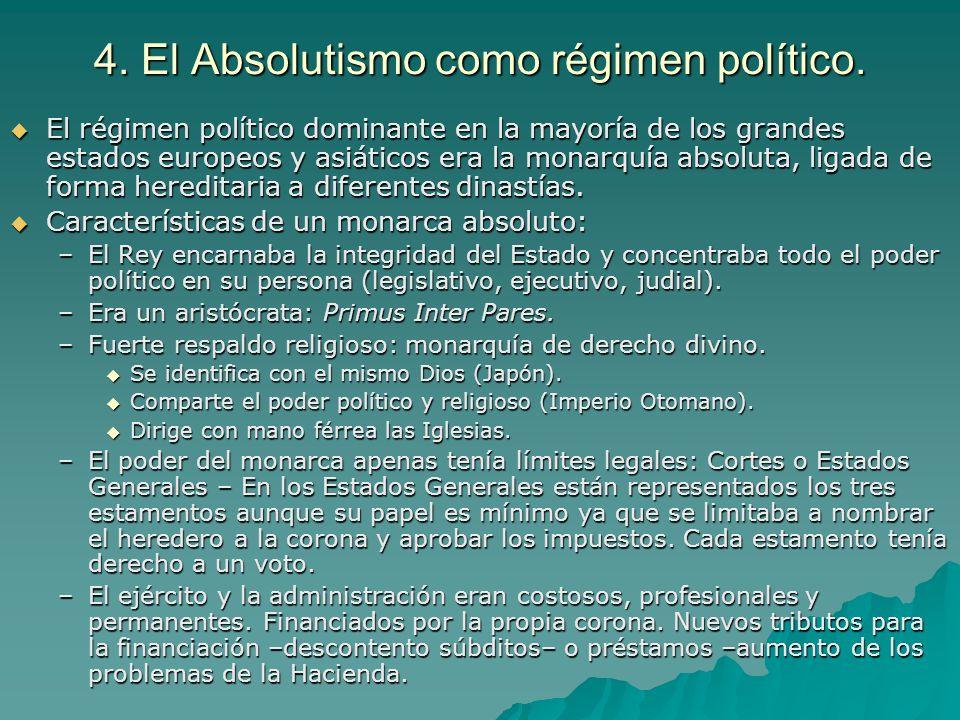 4. El Absolutismo como régimen político.