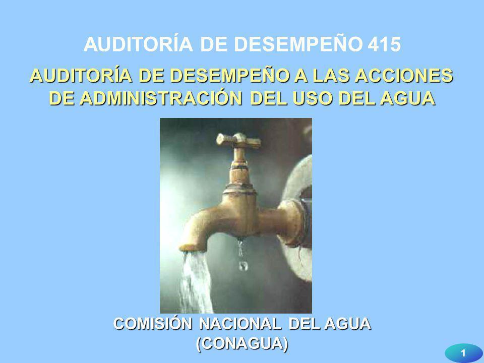 AUDITORÍA DE DESEMPEÑO 415 COMISIÓN NACIONAL DEL AGUA