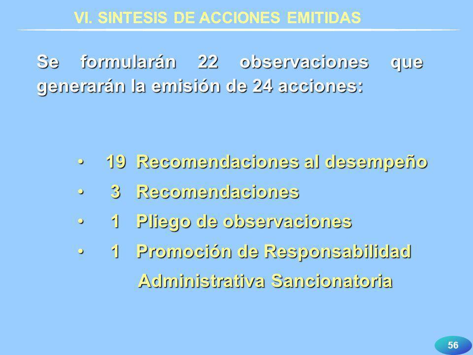 VI. SINTESIS DE ACCIONES EMITIDAS