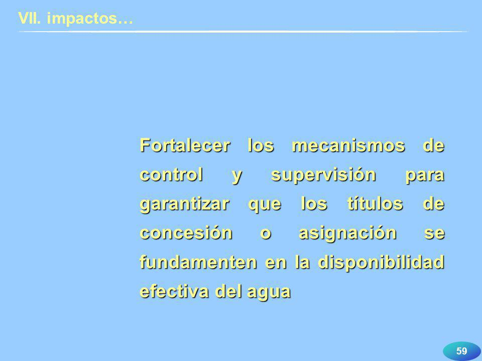 VII. impactos…