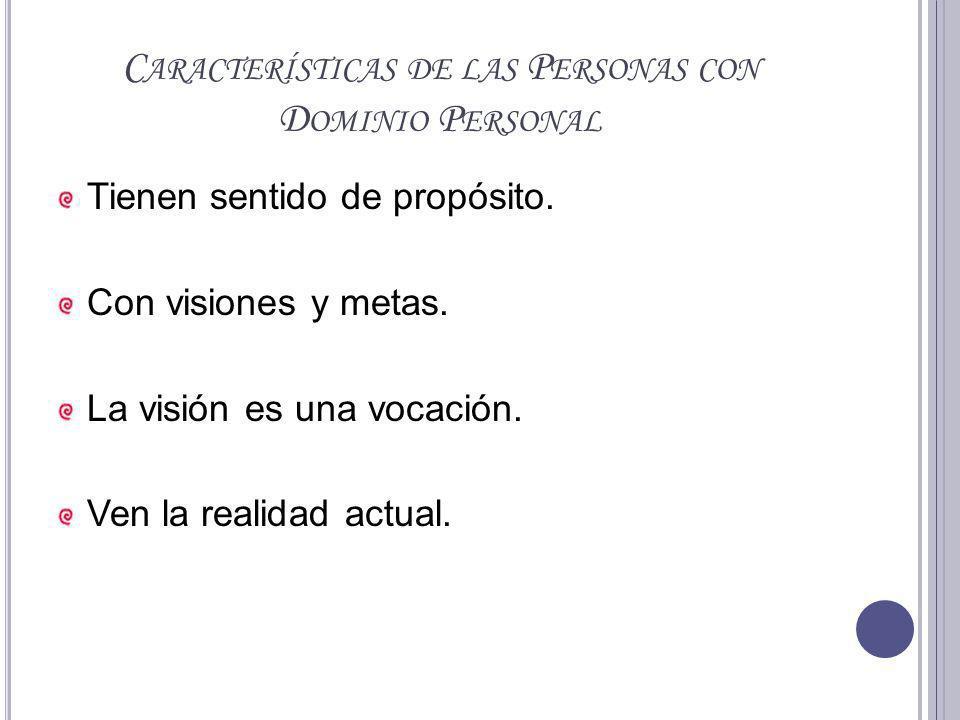 Características de las Personas con Dominio Personal