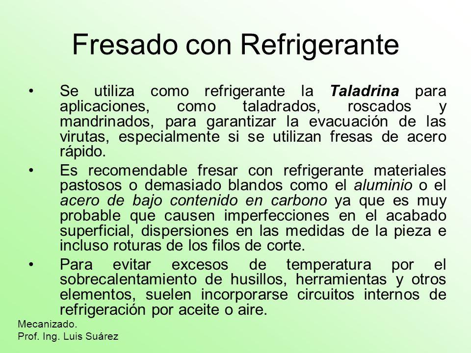 Fresado con Refrigerante