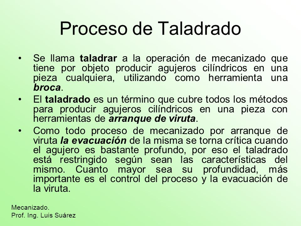 Proceso de Taladrado