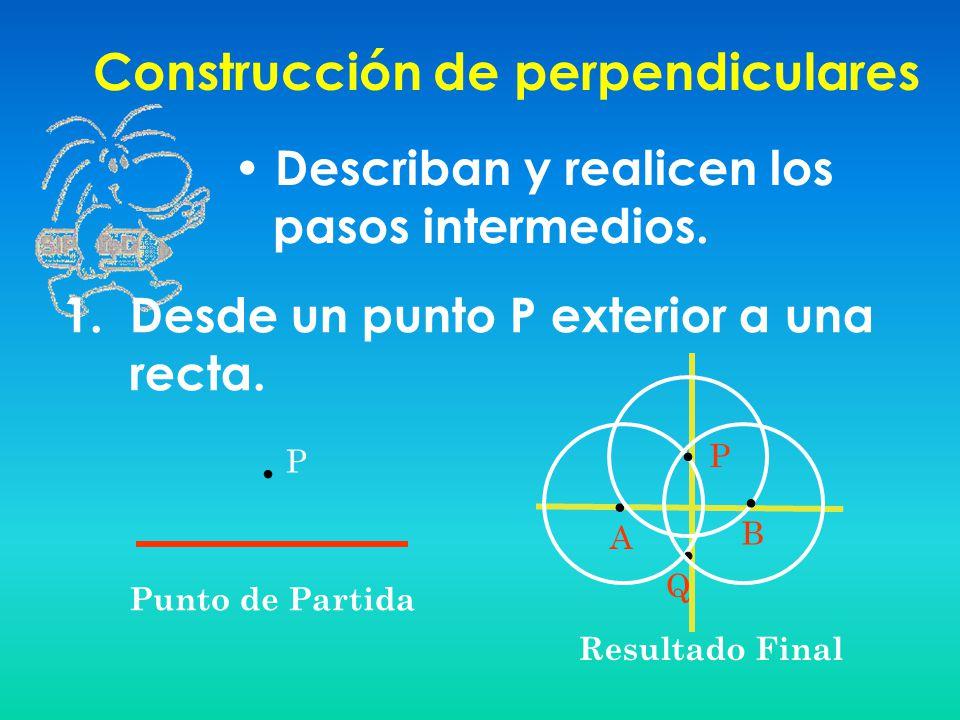 Construcción de perpendiculares