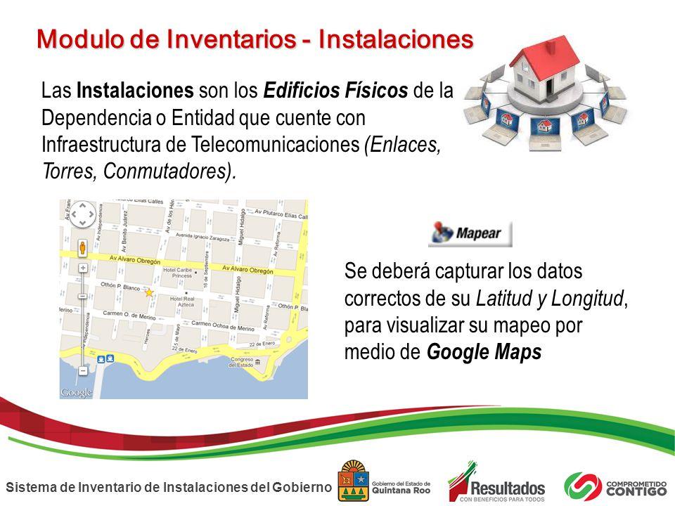 Modulo de Inventarios - Instalaciones