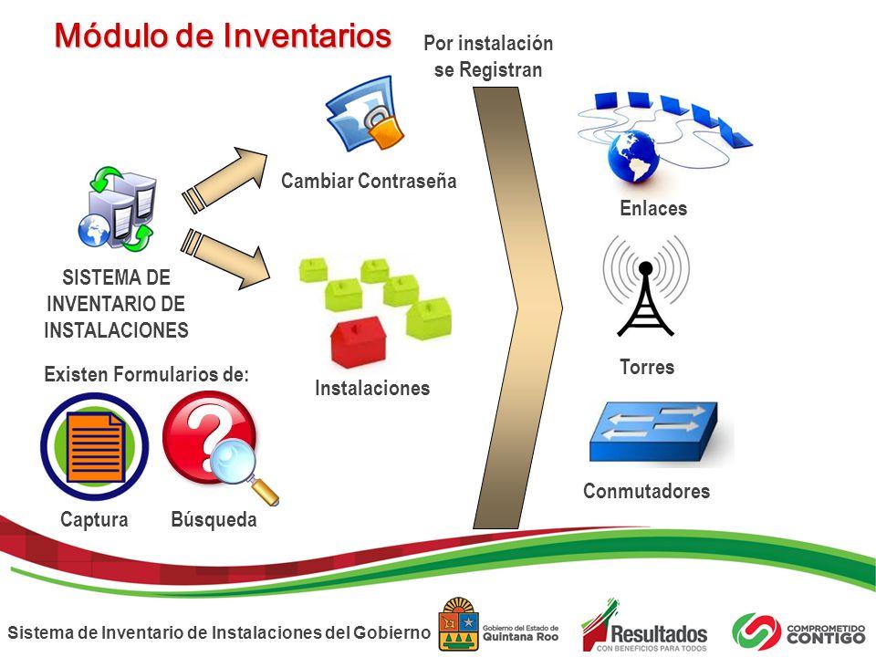 SISTEMA DE INVENTARIO DE Existen Formularios de: