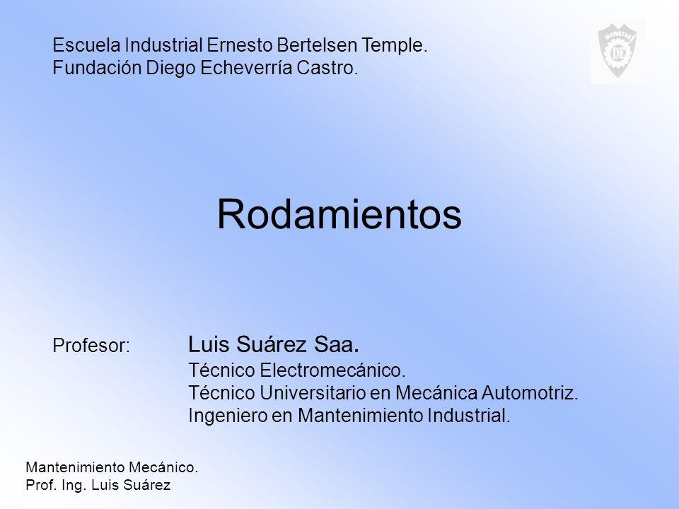 Rodamientos Escuela Industrial Ernesto Bertelsen Temple.
