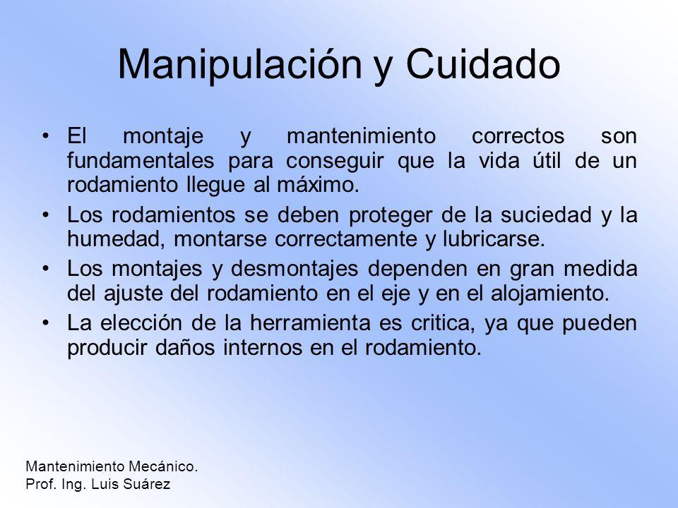 Manipulación y Cuidado