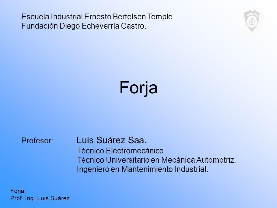 Forja Escuela Industrial Ernesto Bertelsen Temple.