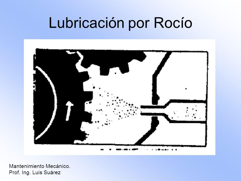 Lubricación por Rocío Mantenimiento Mecánico. Prof. Ing. Luis Suárez