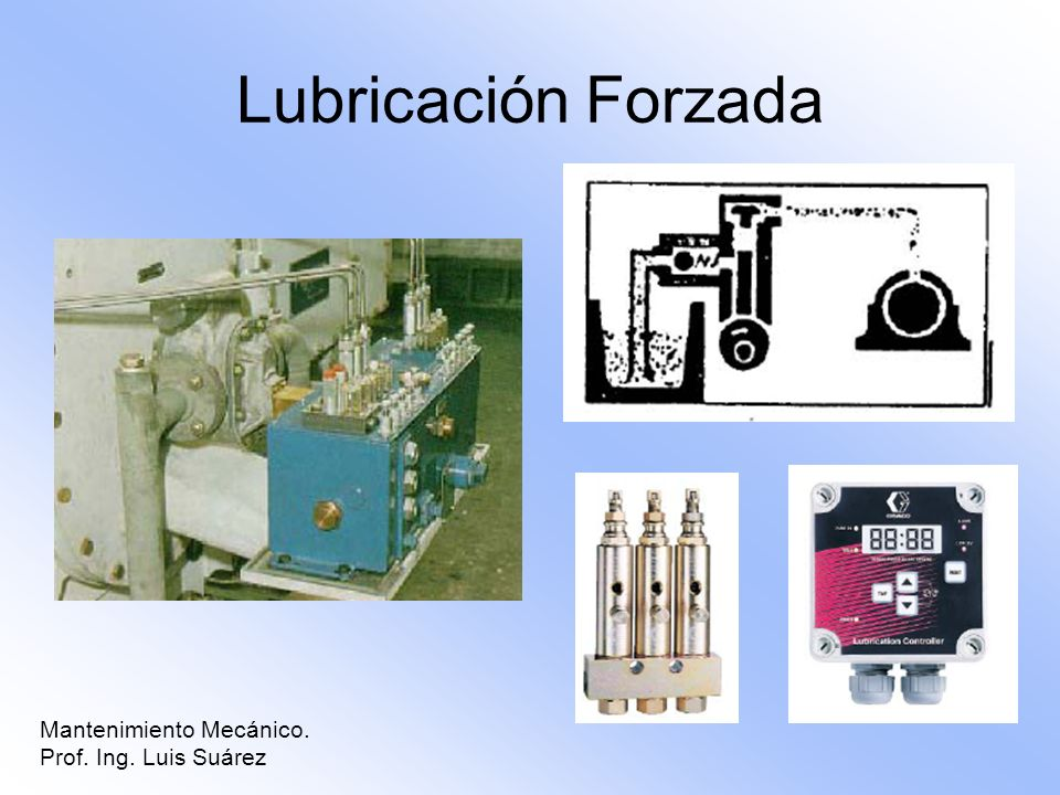 Lubricación Forzada Mantenimiento Mecánico. Prof. Ing. Luis Suárez