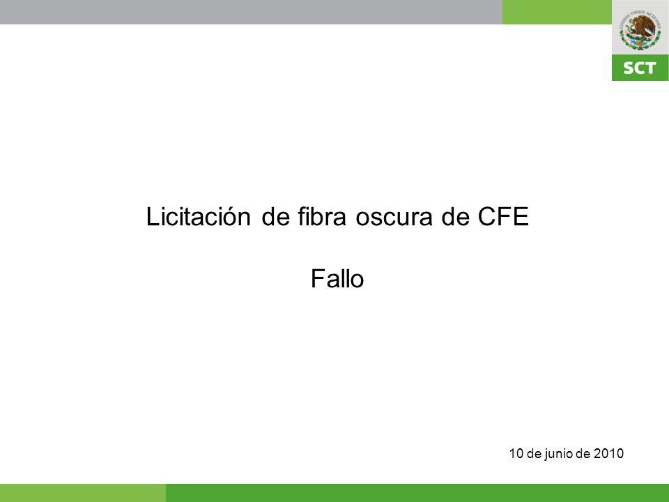 Licitación de fibra oscura de CFE Fallo