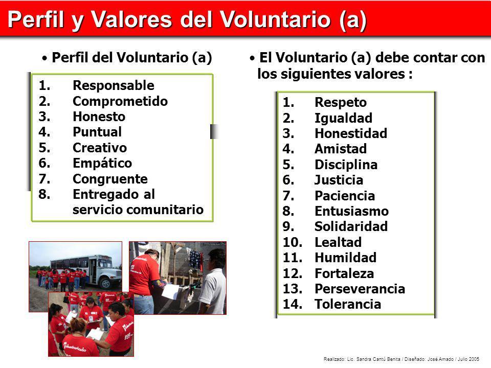 Perfil y Valores del Voluntario (a)