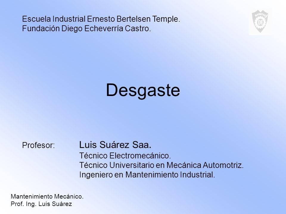 Desgaste Escuela Industrial Ernesto Bertelsen Temple.