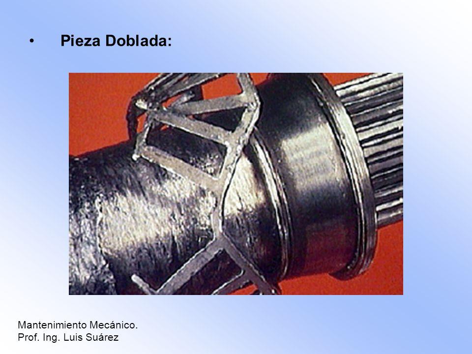 Pieza Doblada: Mantenimiento Mecánico. Prof. Ing. Luis Suárez
