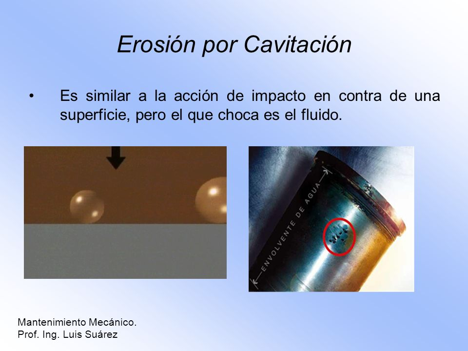 Erosión por Cavitación