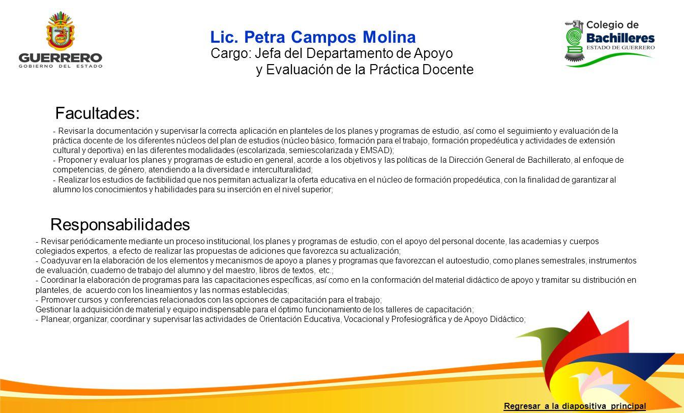 Lic. Petra Campos Molina