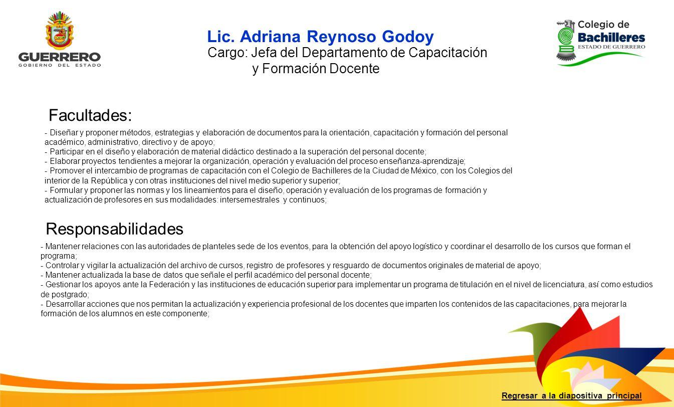 Lic. Adriana Reynoso Godoy