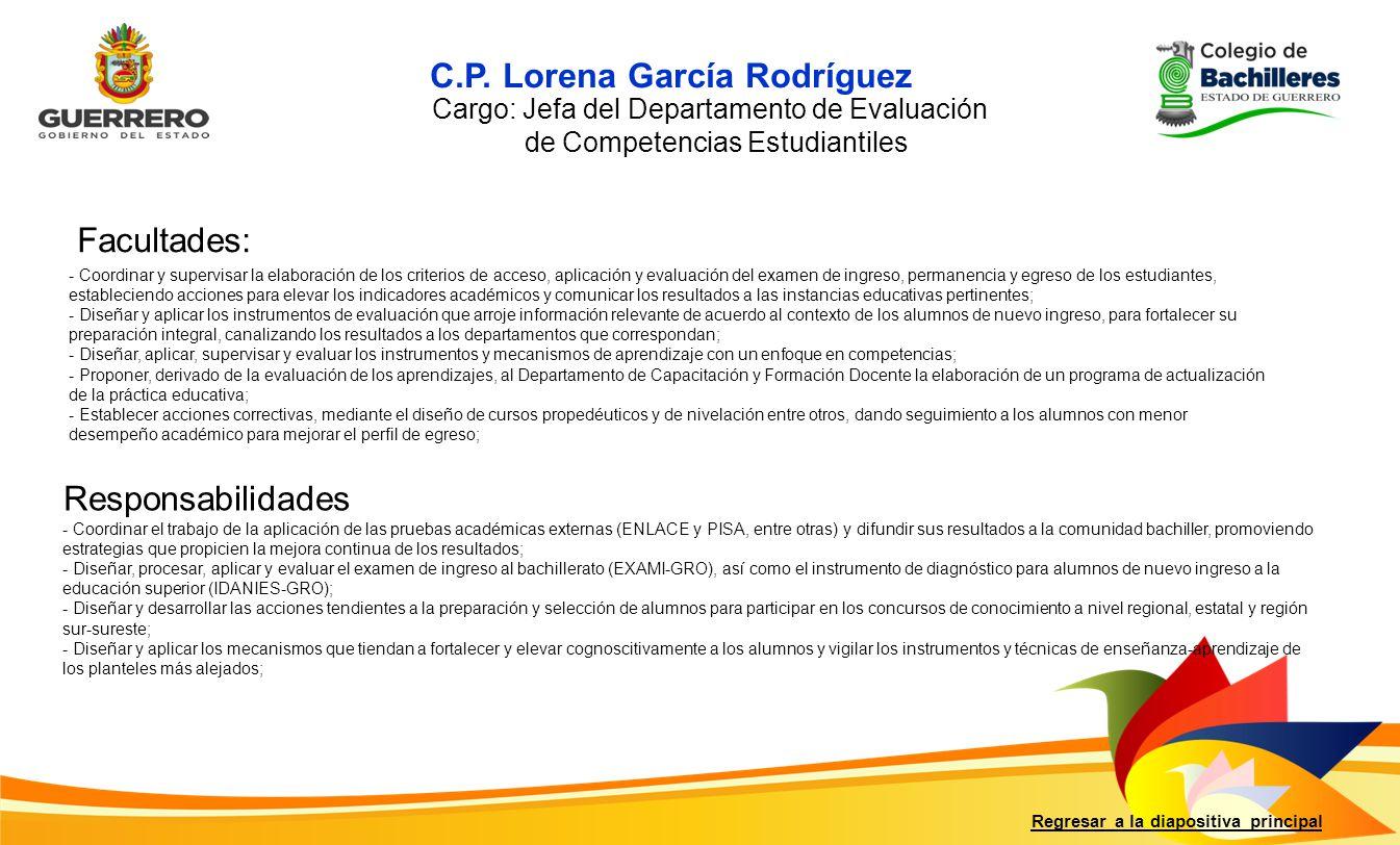 C.P. Lorena García Rodríguez