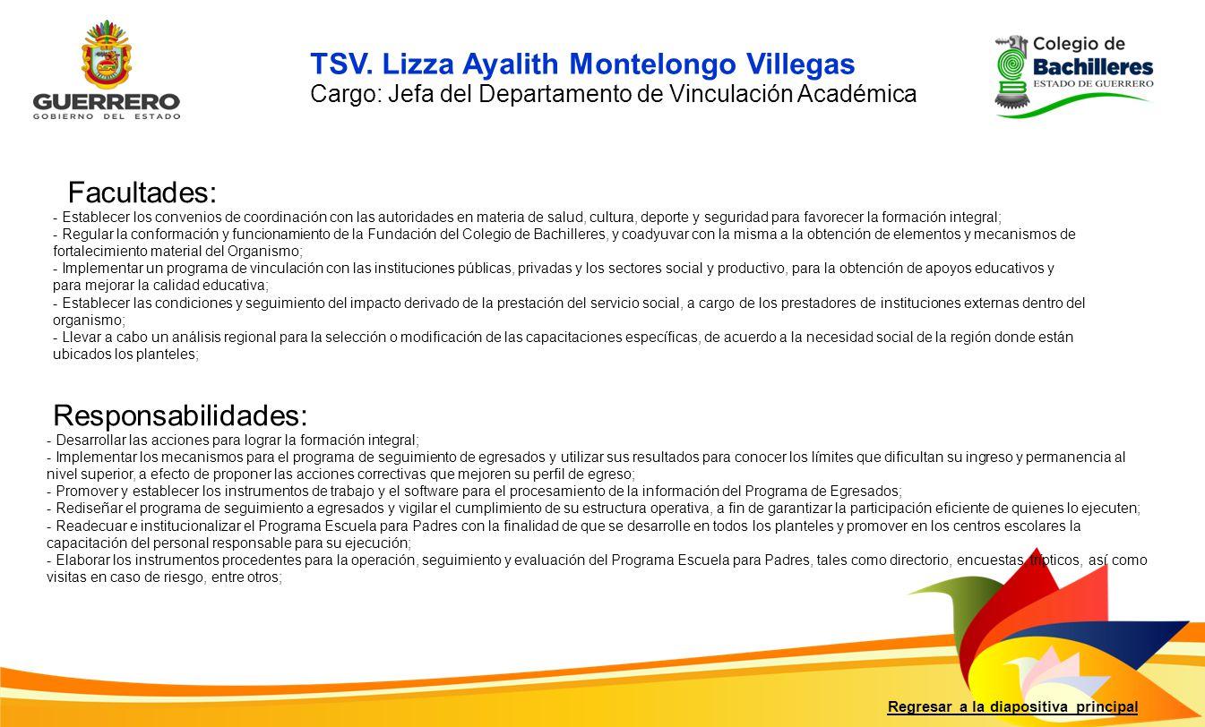 TSV. Lizza Ayalith Montelongo Villegas
