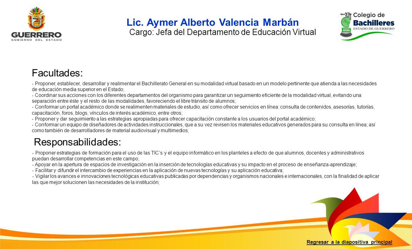 Lic. Aymer Alberto Valencia Marbán