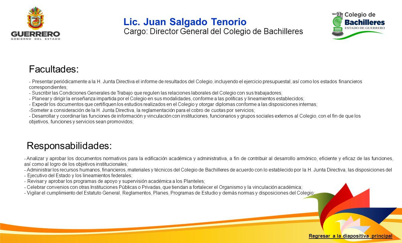 Lic. Juan Salgado Tenorio