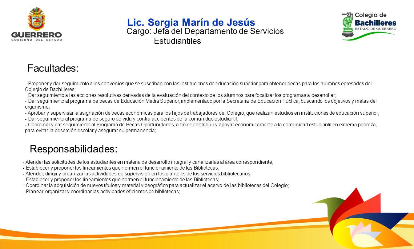 Lic. Sergia Marín de Jesús